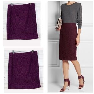 J. Crew Lace Pencil Skirt Career Office Size 12